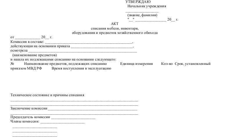 Образец Акта Дефектации Оборудования